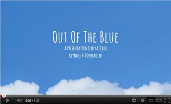 Out of the Blue Keynote Presentation Template