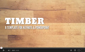 Timber Keynote Presentation Templates